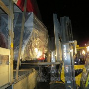 разгрузка 600 кВт котла на пеллетах в Москве