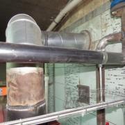 Подключение дымохода к Emtas Eky-s 100